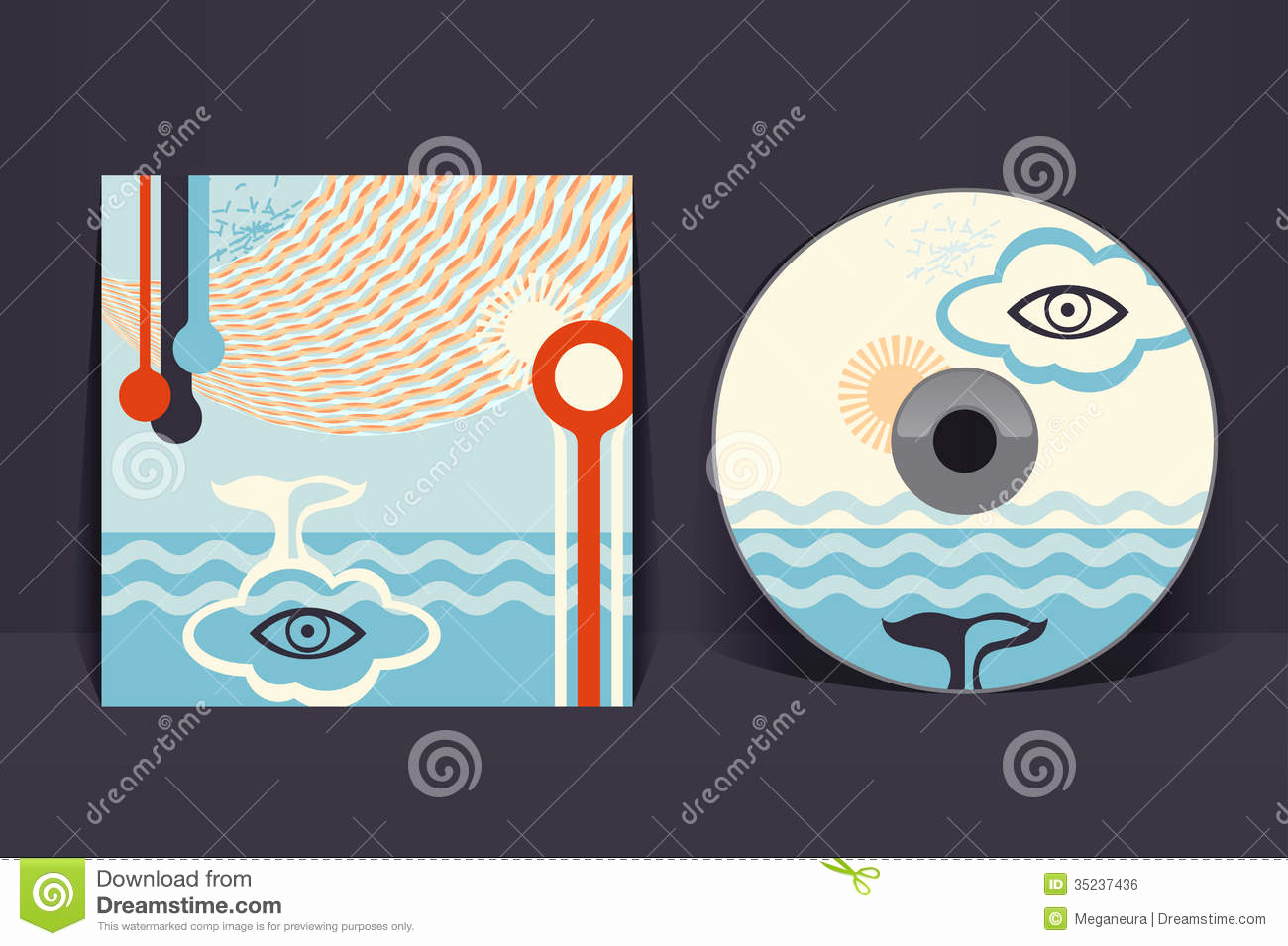 Cd Cover Design Template Elegant Cd Cover Design Template Stock Vector Illustration Of