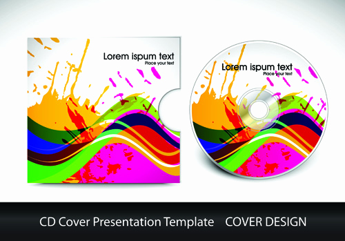Cd Cover Design Template Elegant Cd Cover Presentation Vector Template Material 03 Free