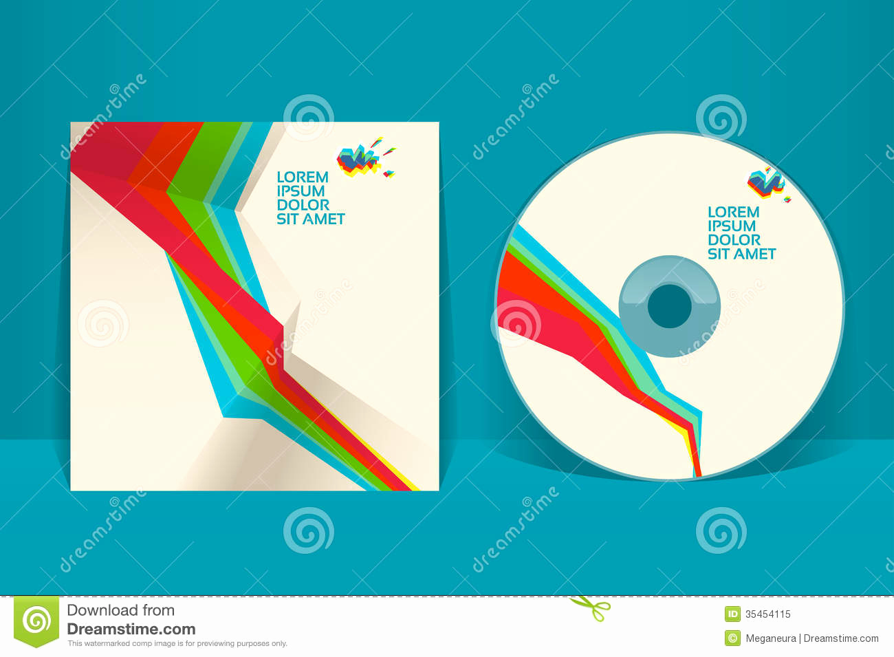 royalty free stock photo cd cover design template eps vector transparencies used image