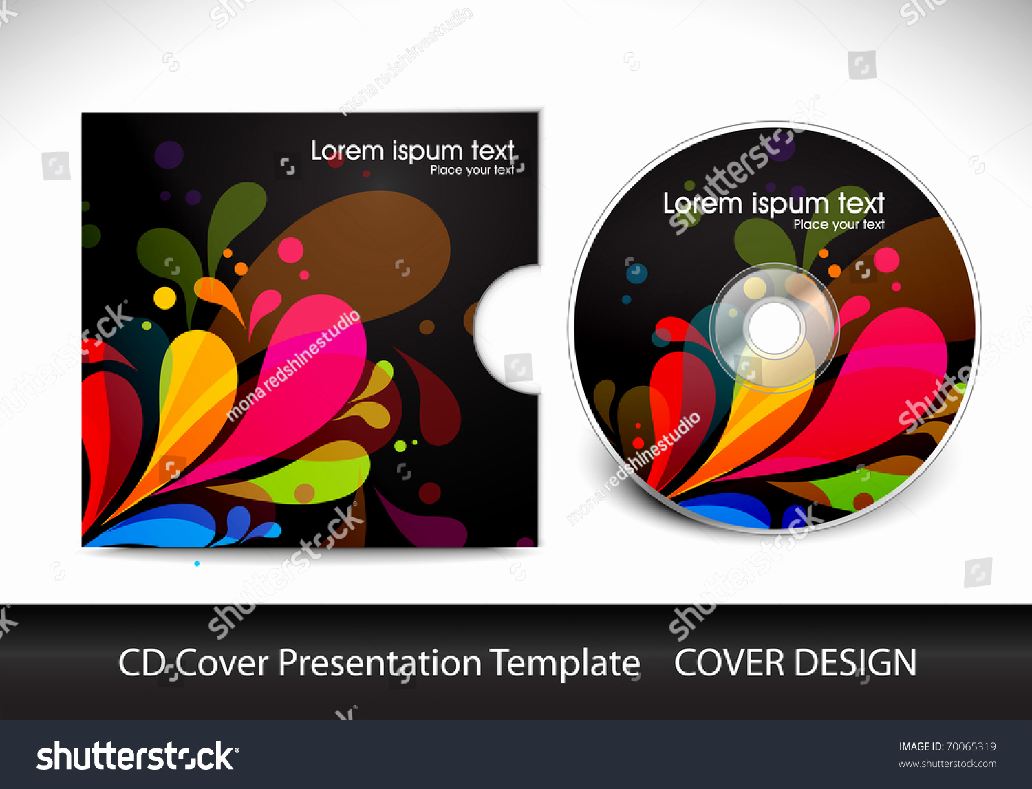 Cd Cover Design Template Inspirational Cd Cover Presentation Design Template Editable Stock