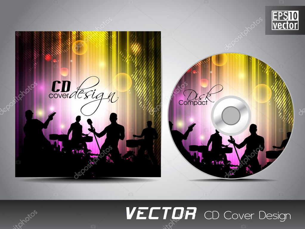 Cd Cover Design Template Lovely Cd Cover Presentation Design Template with Copy Space and