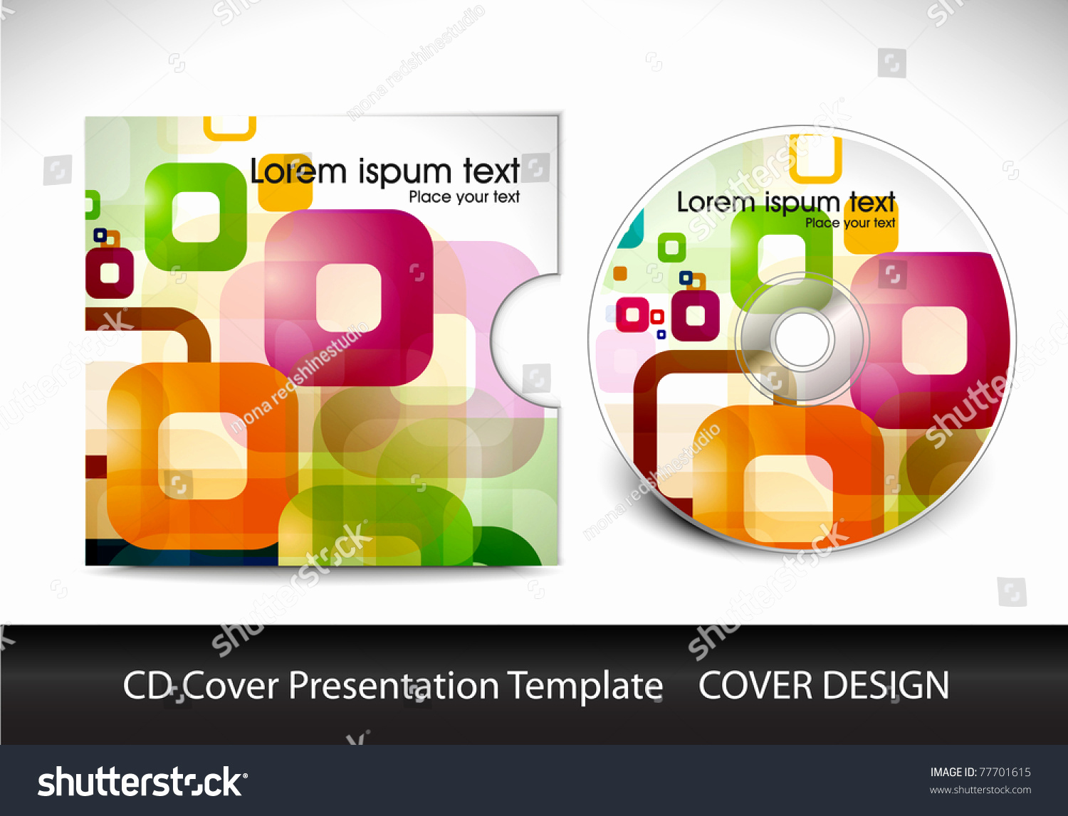 Cd Cover Design Template New Cd Cover Design Template Presentation Editable Vector