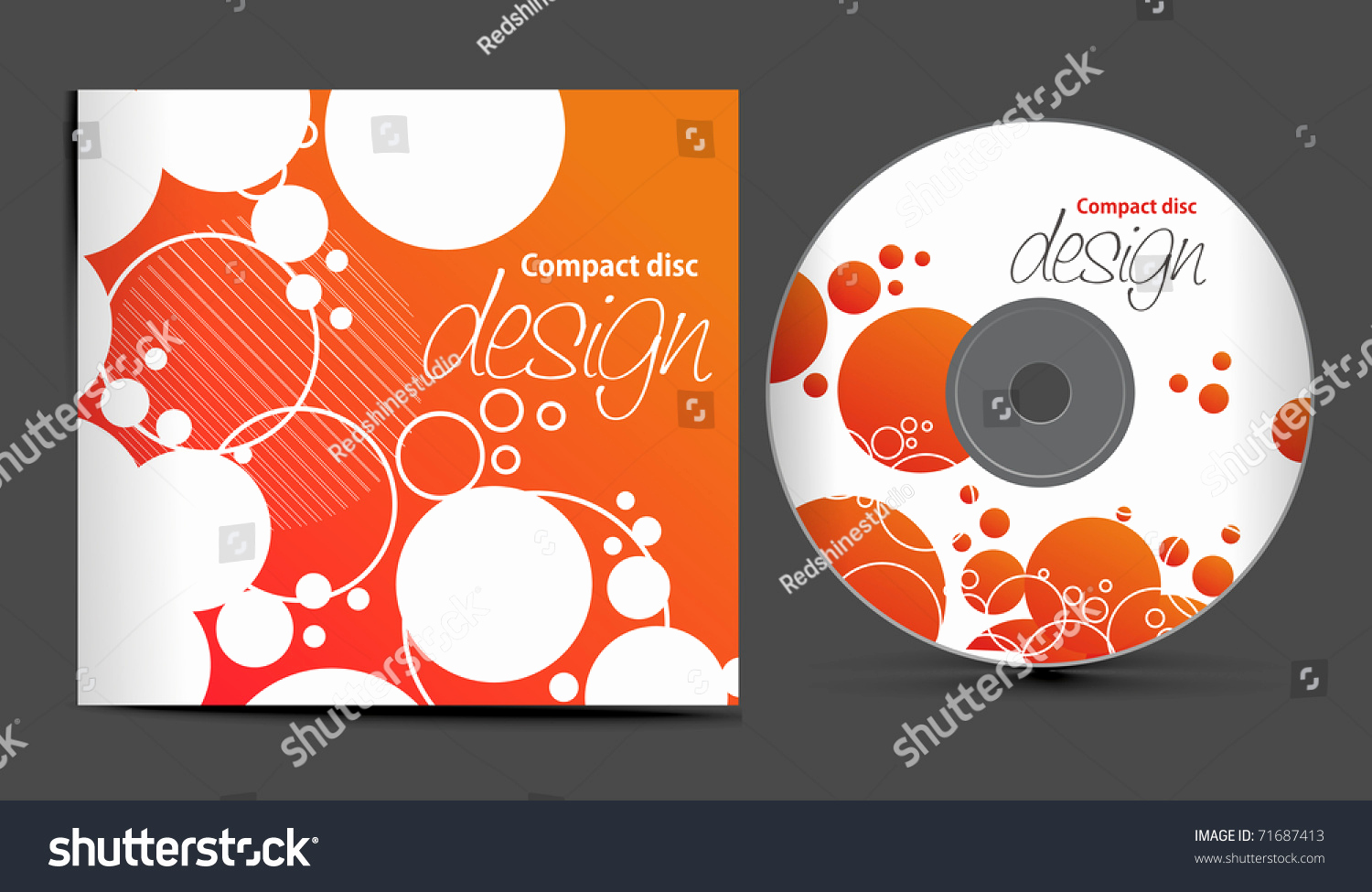 Cd Cover Design Template New Vector Cd Cover Design Template with Copy Space Vector