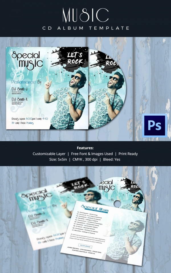 Cd Cover Design Template Unique Cd Cover Template 51 Free Psd Eps Word format