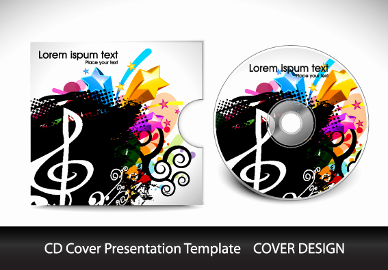 Cd Cover Template Photoshop Best Of Cd Cover Presentation Vector Template Material 06 Free