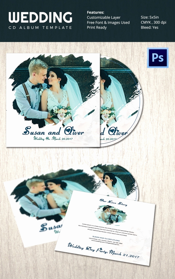 Cd Cover Template Photoshop Fresh Cd Cover Template 51 Free Psd Eps Word format