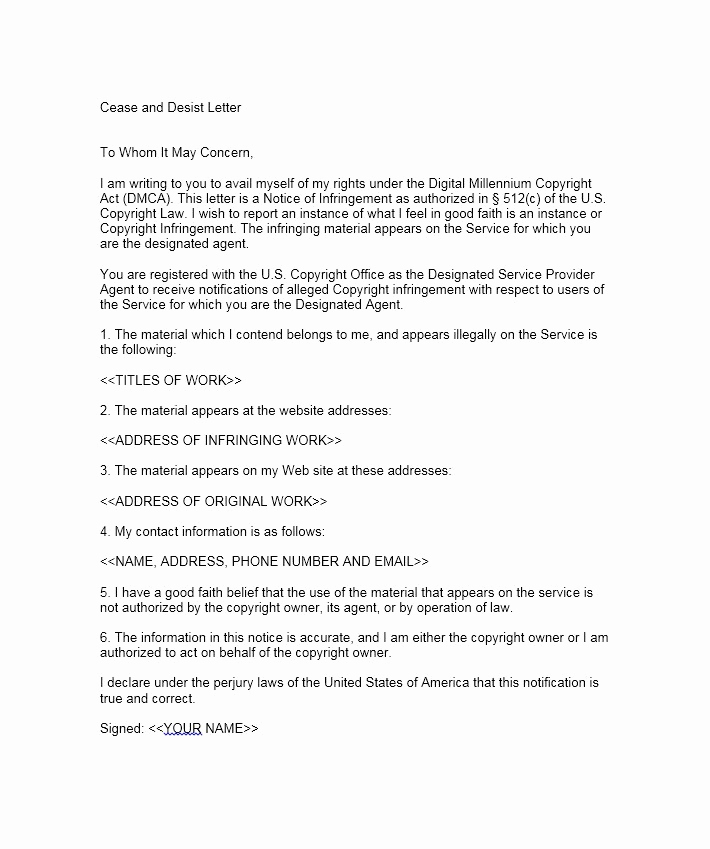 Cease and Desist Letter Sample Awesome 30 Cease and Desist Letter Templates [free] Template Lab
