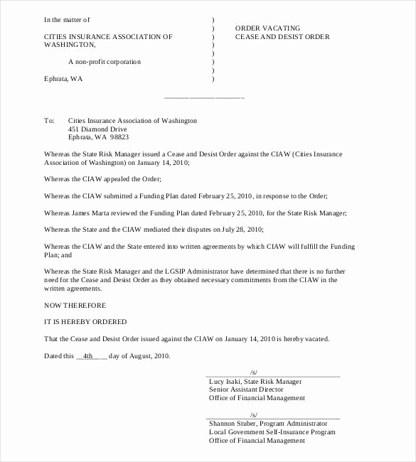 Cease and Desist Letter Sample New Cease and Desist Letter Template 16 Free Sample Example
