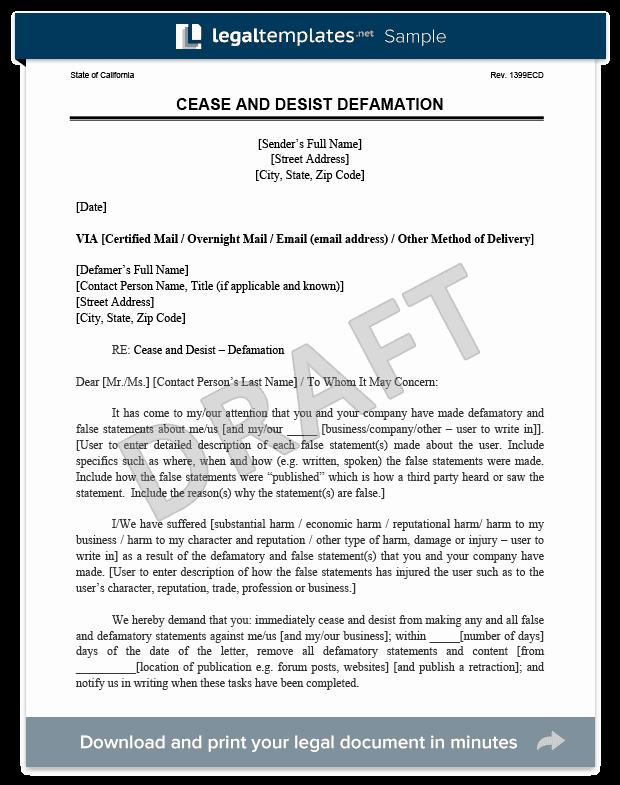 Cease and Desist Letters Sample Unique Cease and Desist Letter C&d