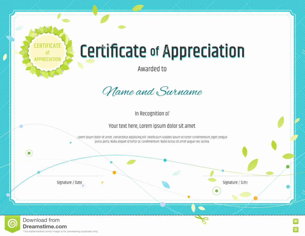 Certificate Of Appreciation Template Free Beautiful Blank Certificates