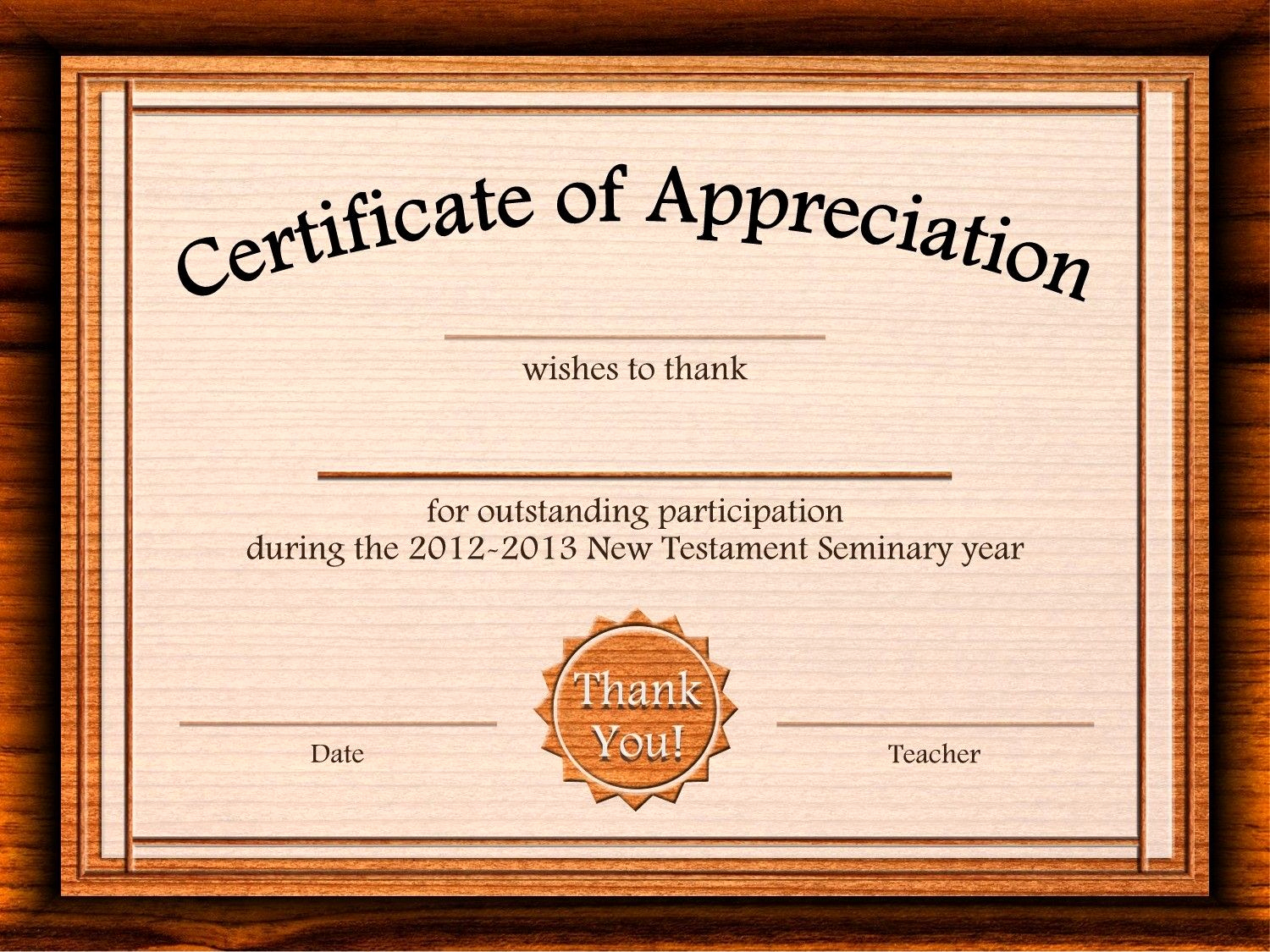 Certificate Of Appreciation Template Free Beautiful Free Certificate Appreciation Templates for Word