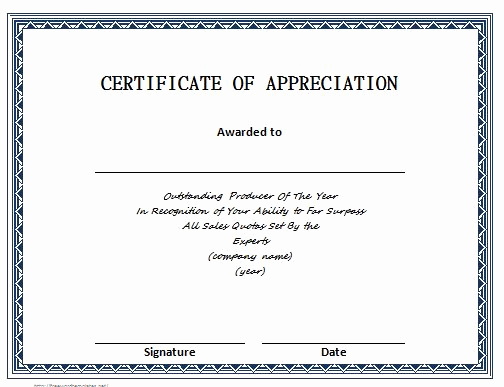 Certificate Of Appreciation Template Free Best Of 30 Free Certificate Of Appreciation Templates and Letters