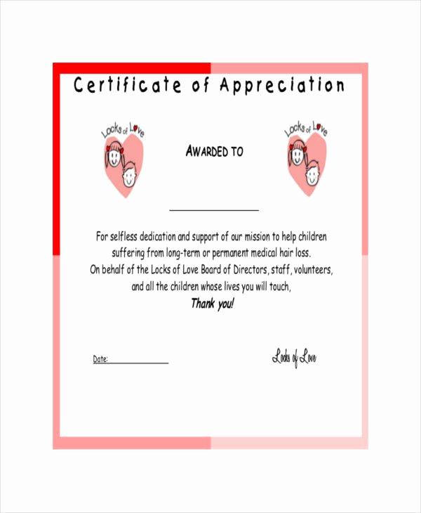 Certificate Of Appreciation Template Free Best Of 37 Certificate Of Appreciation Templates Pdf Docs