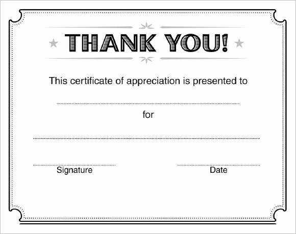 Certificate Of Appreciation Template Free Elegant 31 Certificate Of Appreciation Templates – Sample Word
