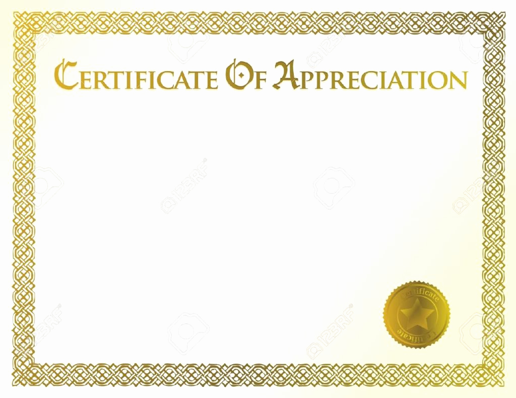 Certificate Of Appreciation Template Free Fresh 43 formal and Informal Editable Certificate Template