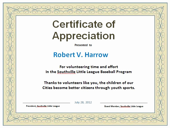 Certificate Of Appreciation Template Free Lovely 31 Free Certificate Of Appreciation Templates and Letters