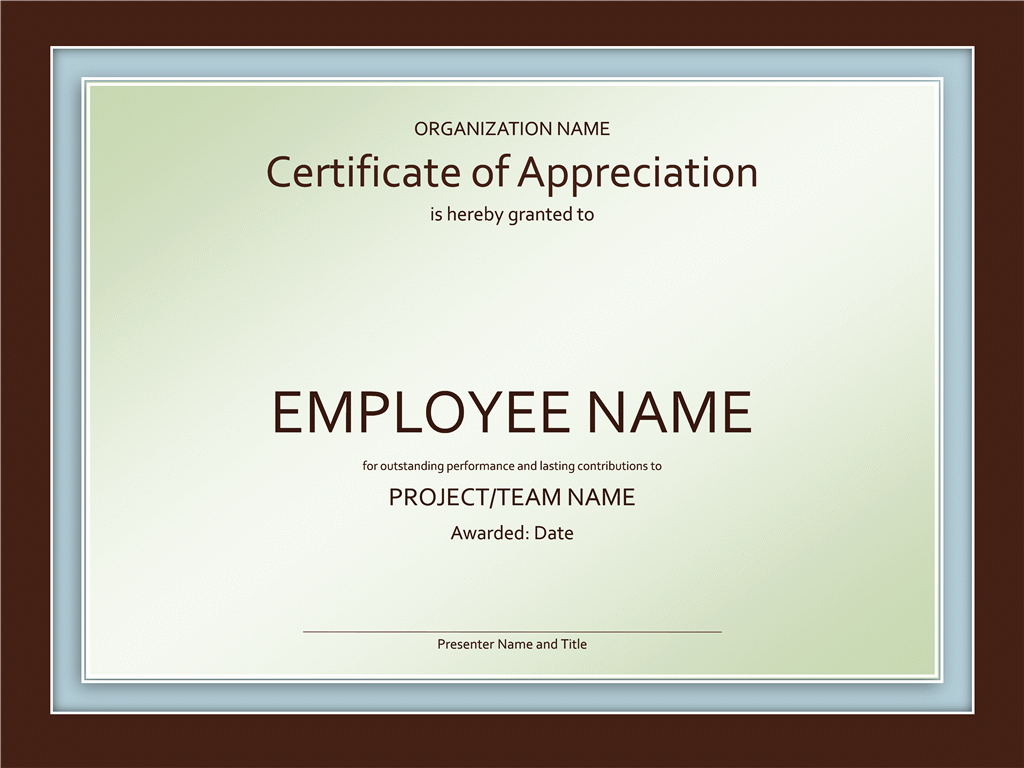 Certificate Of Appreciation Template Free Lovely Certificates Fice