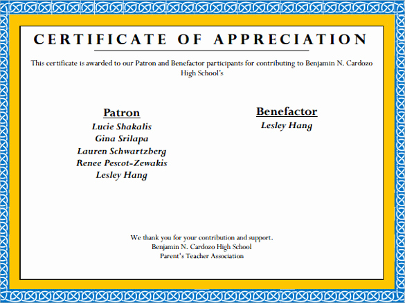 Certificate Of Appreciation Template Free Unique Sample Certificate Of Appreciation Templates 35