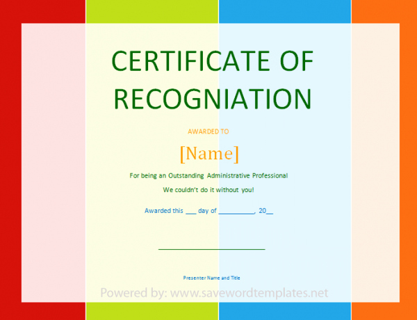 Certificate Of Appreciation Template Word Awesome soft Templates Part 2