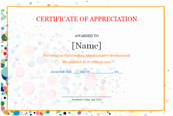 Certificate Of Appreciation Template Word Beautiful Free Certificate Of Appreciation