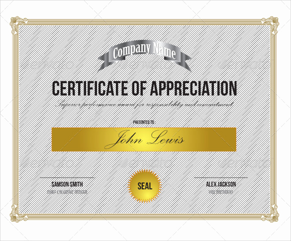 Certificate Of Appreciation Template Word Beautiful Sample Certificate Of Appreciation Templates 35