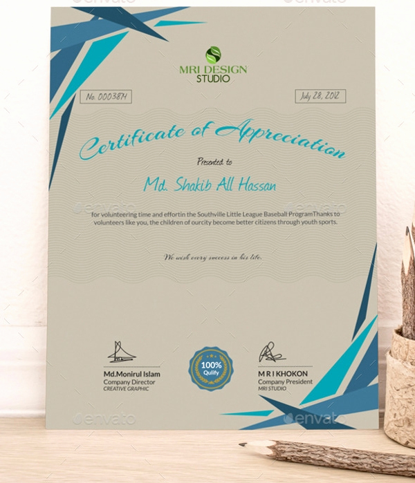 Certificate Of Appreciation Template Word Best Of Certificate Of Appreciation Template 25 Free Word Pdf