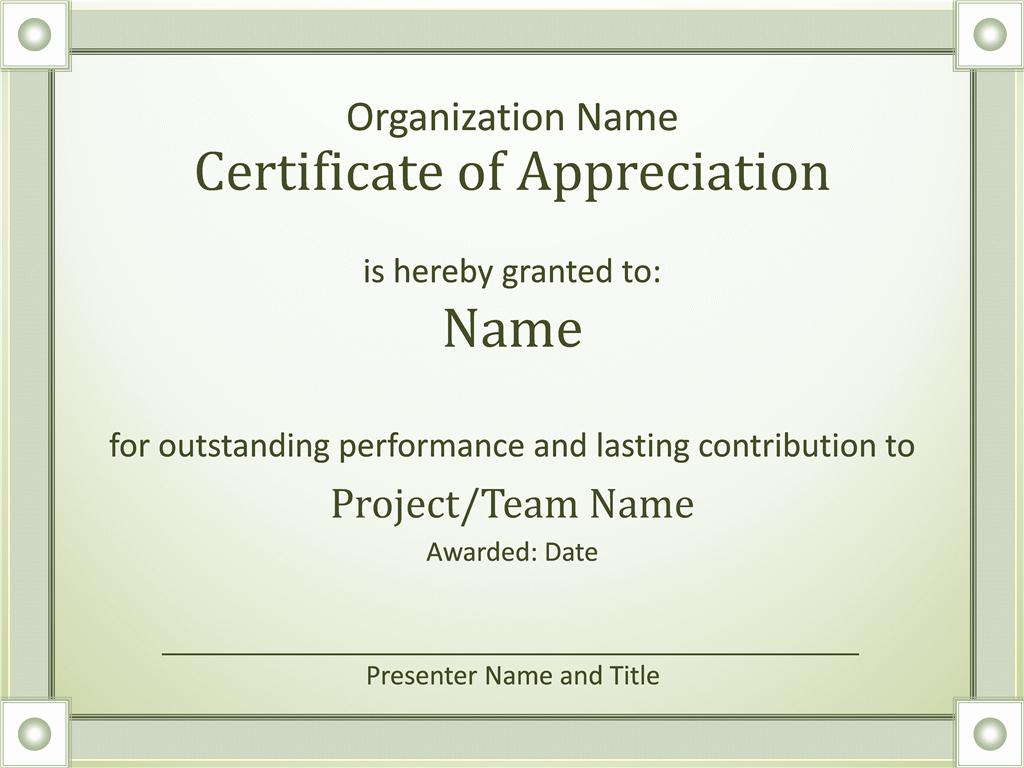 Certificate Of Appreciation Template Word Elegant Certificates Fice
