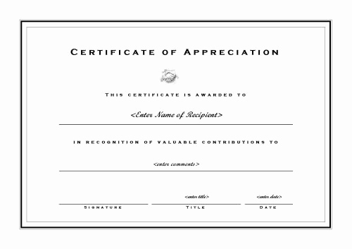 Certificate Of Appreciation Template Word Elegant Certificates Of Appreciation 002