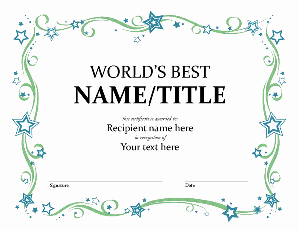 Certificate Of Appreciation Template Word Lovely Certificates Fice