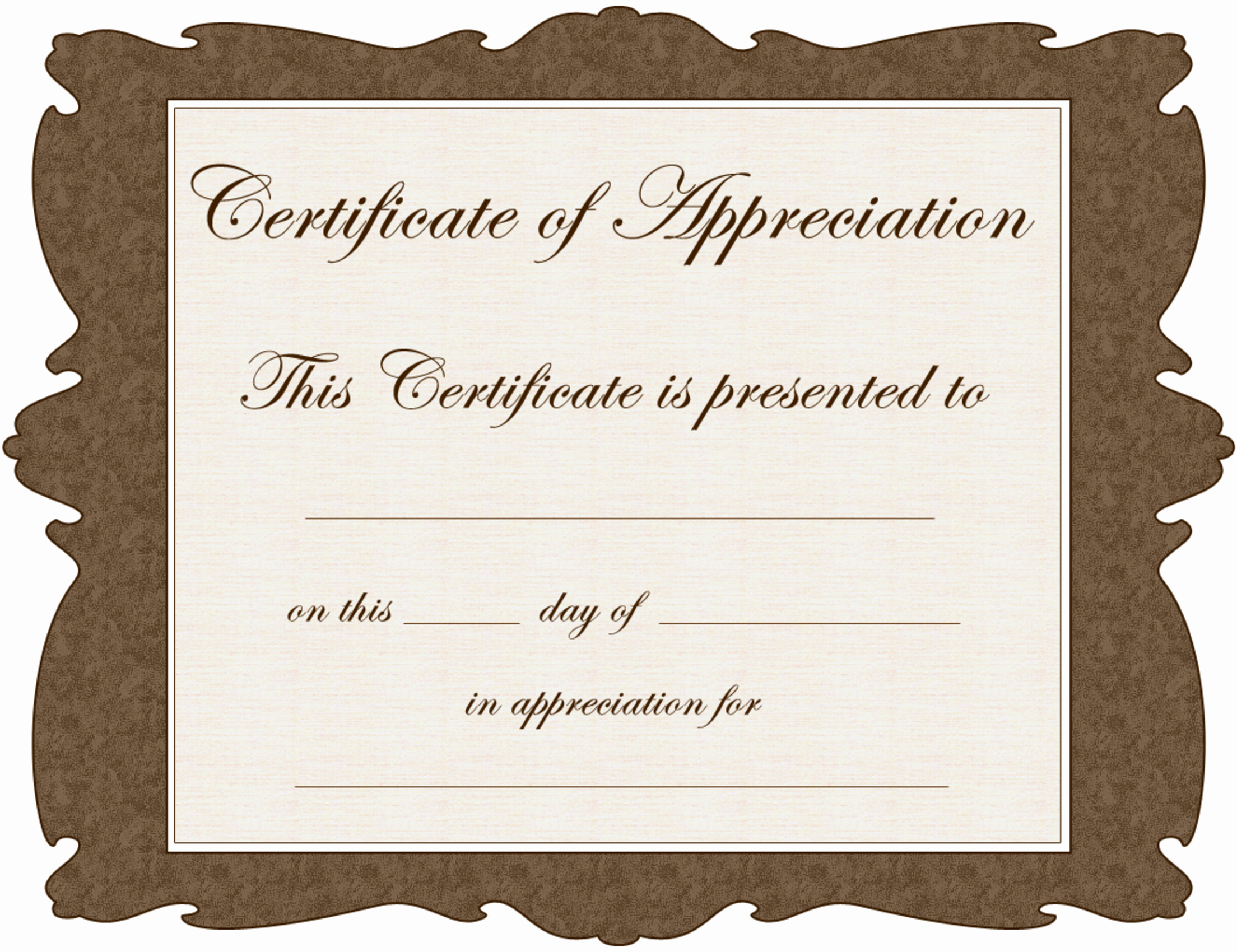 free word certificate of appreciation template pdf by cct
