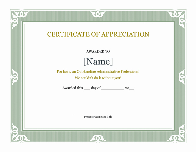 Certificate Of Appreciation Template Word New Professional Business Certificate Template Examples Thogati