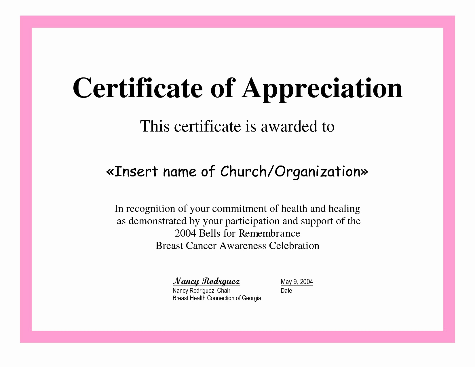 Certificate Of Appreciation Wording Awesome Employee Appreciation Certificate Template Free