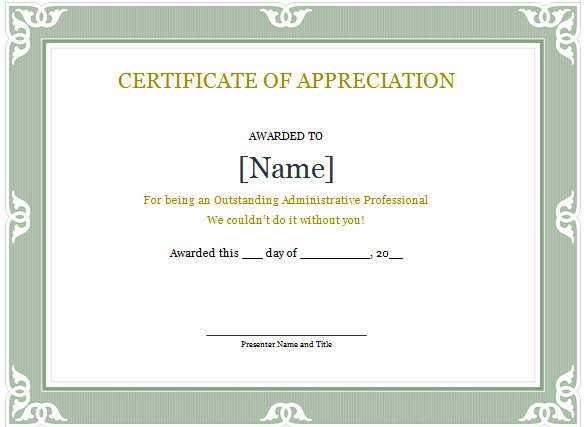 Certificate Of Appreciation Wording Best Of Word Certificate Template 49 Free Download Samples