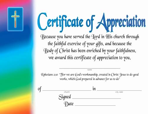 Certificate Of Appreciation Wording Inspirational Certificate Of Appreciation Certificates Church