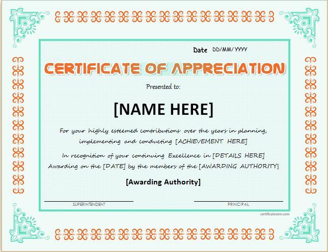 Certificate Of Appreciation Wording Luxury Certificates Of Appreciation Templates for Word