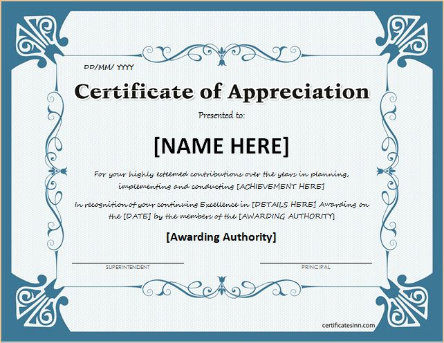 Certificate Of Appreciation Wording Unique Certificates Of Appreciation Templates for Word