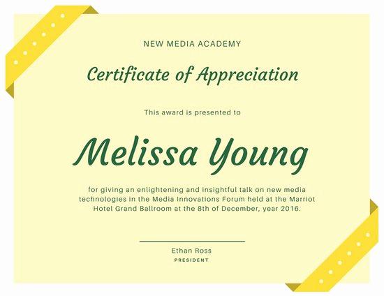Certificate Of Appreciation Wording Unique Customize 89 Appreciation Certificate Templates Online