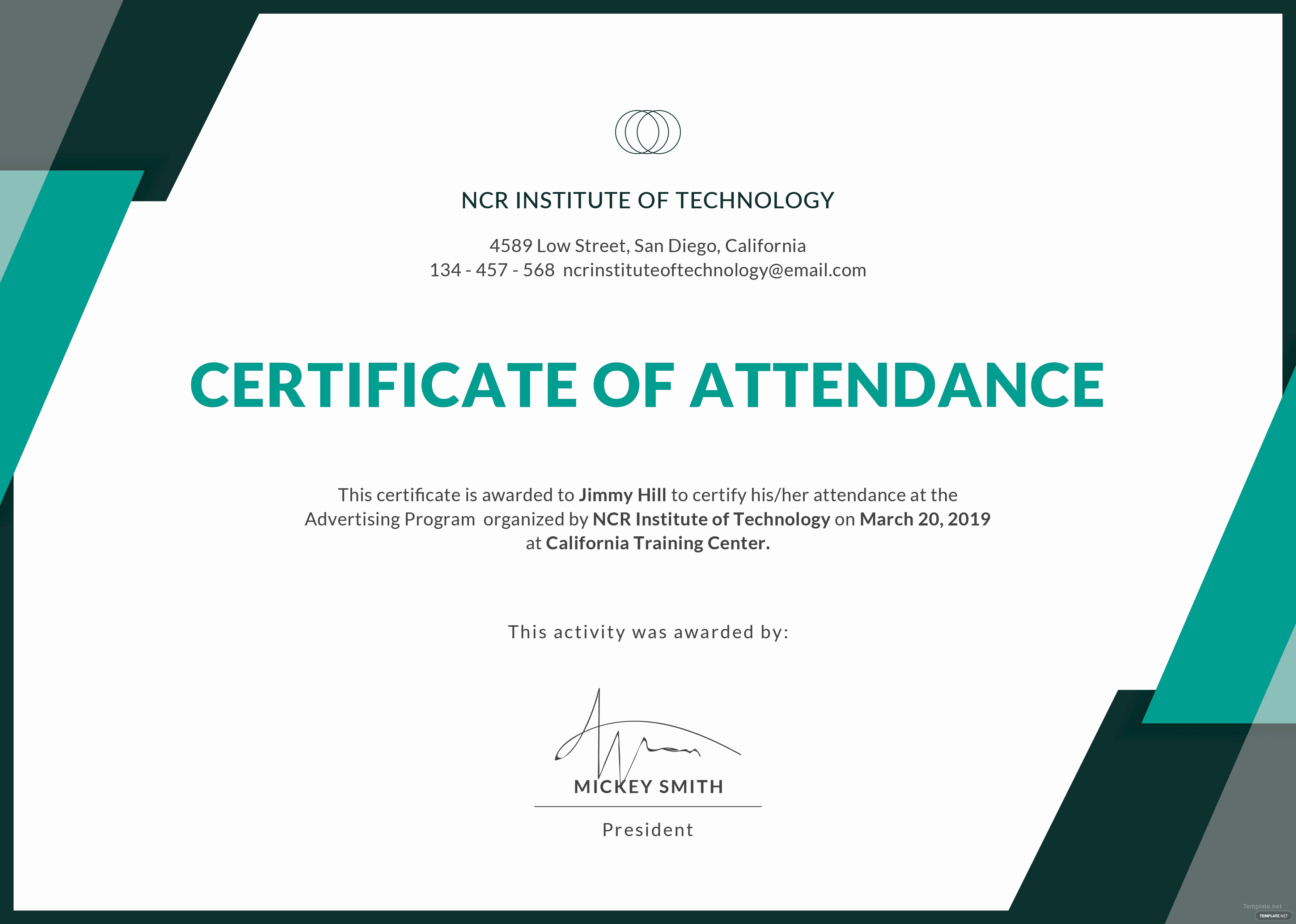 Certificate Of attendance Template Luxury Free event attendance Certificate Template In Adobe