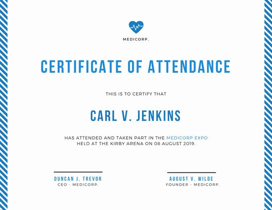 Certificate Of attendance Template Unique Customize 48 attendance Certificate Templates Online Canva
