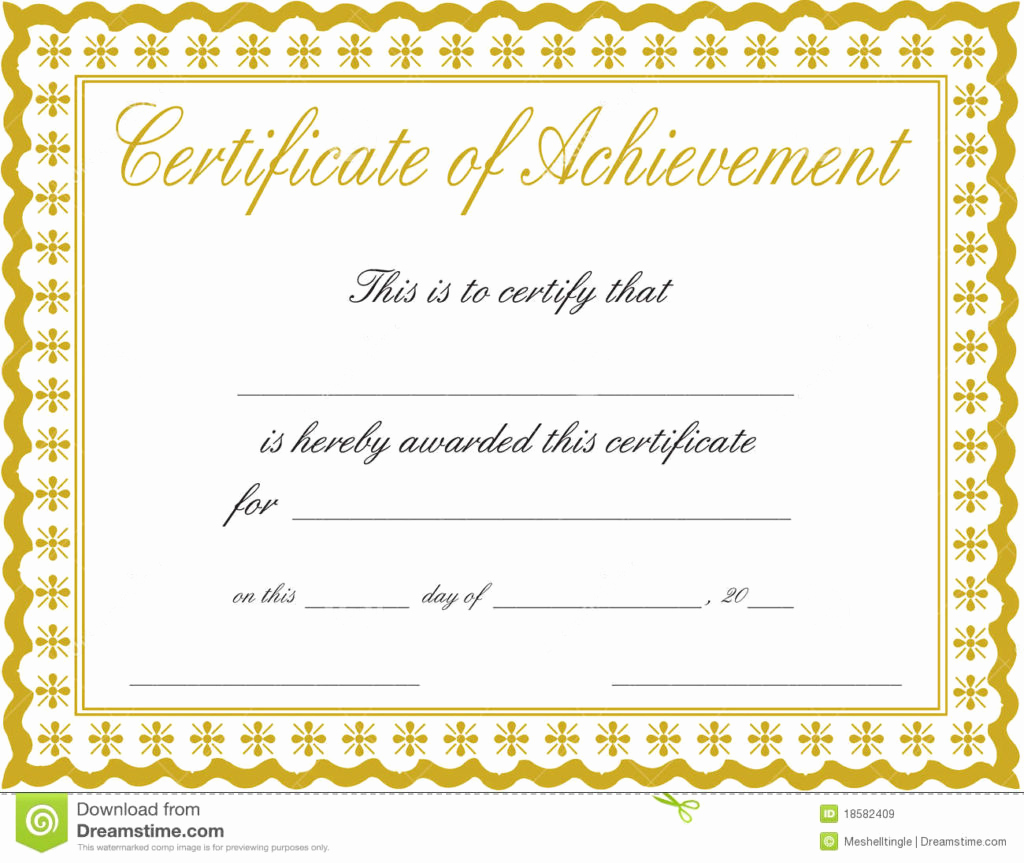 Certificate Of Completion Template Free Awesome Certificate Templates