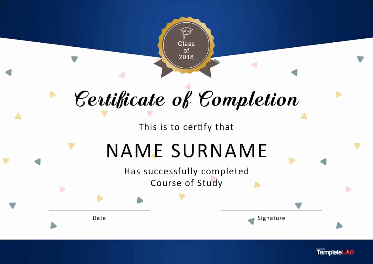 Certificate Of Completion Template Free Elegant 40 Fantastic Certificate Of Pletion Templates [word