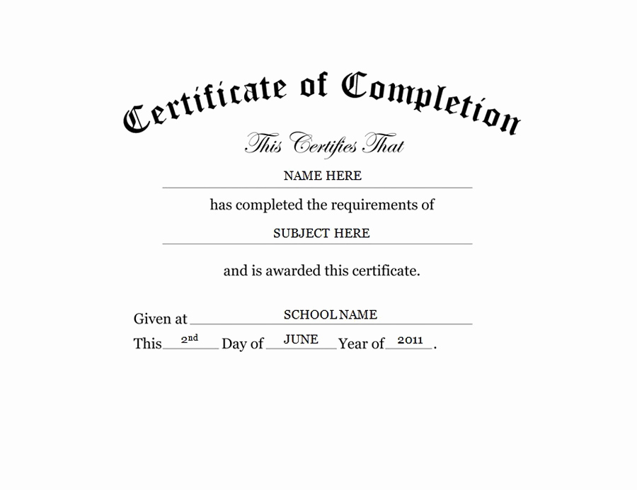 Certificate Of Completion Template Free Elegant Geographics Certificates
