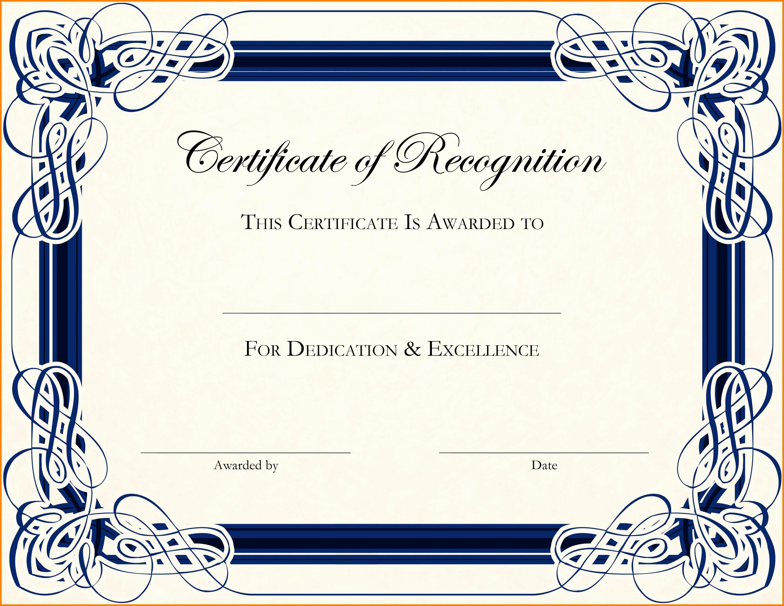 Certificate Of Completion Template Free Fresh 12 Editable Certificate Template