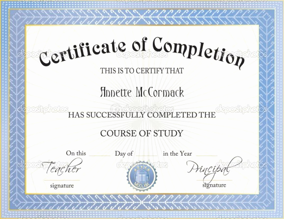 Certificate Of Completion Template Free Lovely 37 Free Certificate Of Pletion Templates In Word Excel Pdf