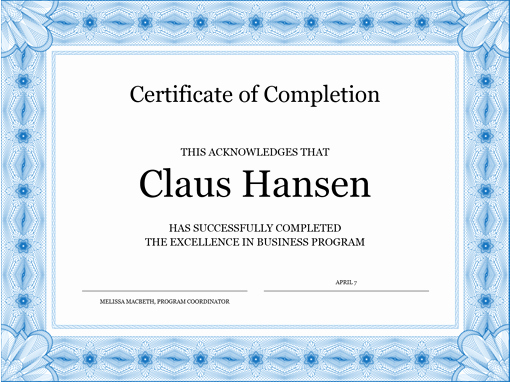 Certificate Of Completion Template Free Luxury 13 Certificate Of Pletion Templates Excel Pdf formats