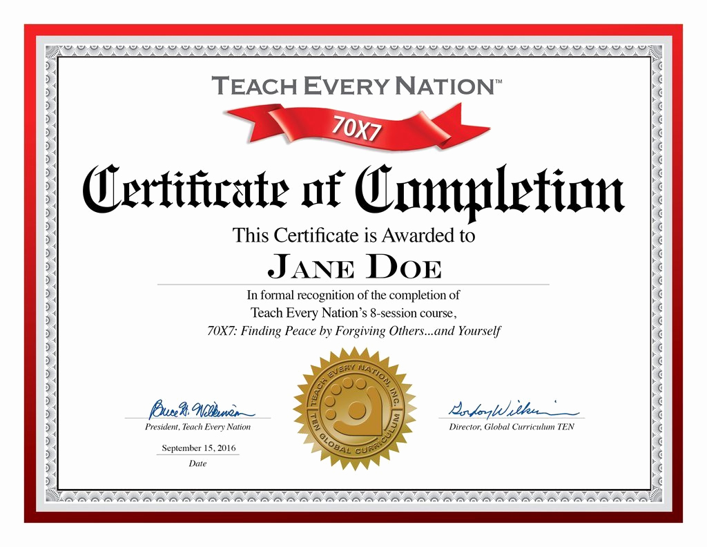 Certificate Of Completion Template Free New Free Templates for Certificates Of Pletion