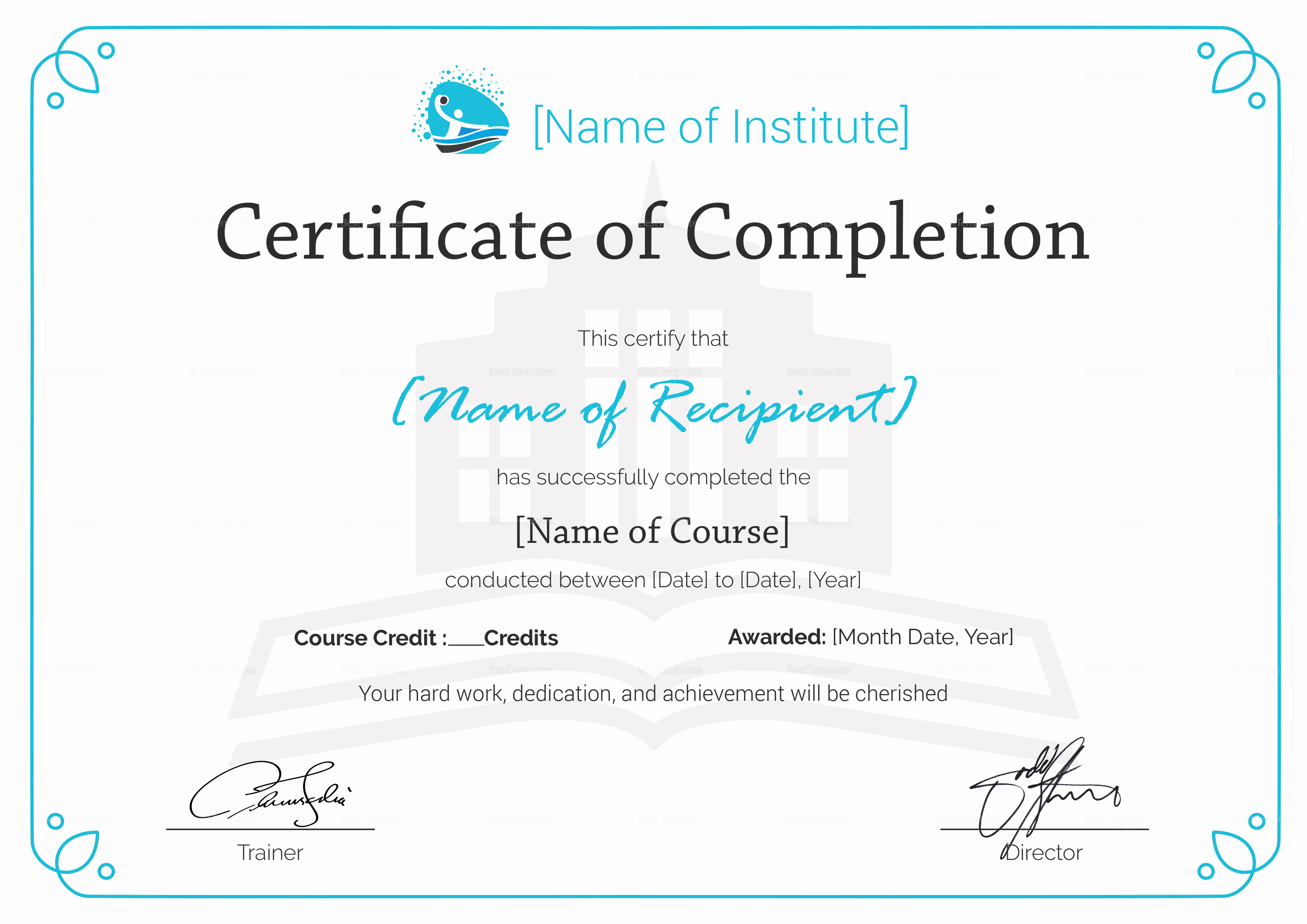 Certificate Of Completion Template Free New Training Pletion Certificate Design Template In Psd Word