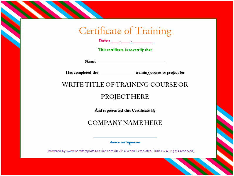 Certificate Of Completion Template Word Beautiful Professional Training Certificate Templates