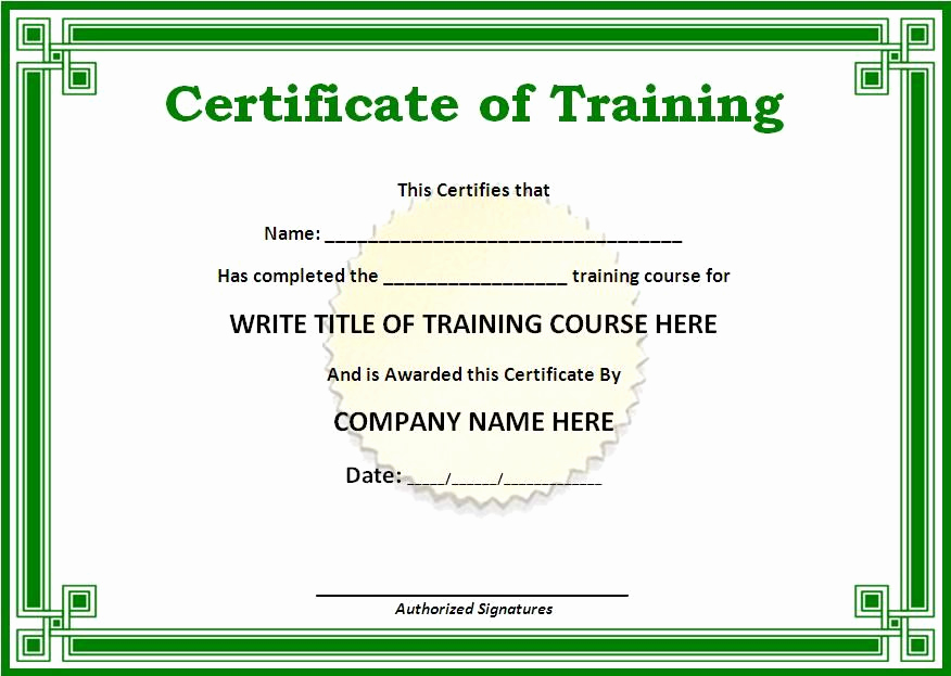 Certificate Of Completion Template Word Best Of Training Certificate Templates for Word