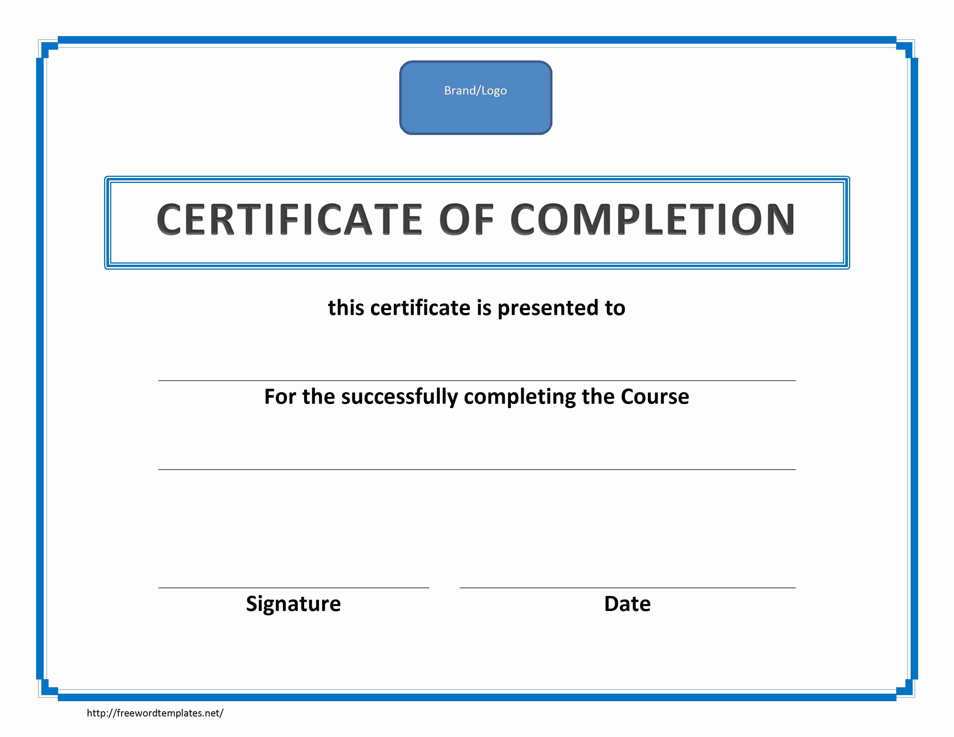 Certificate Of Completion Template Word Fresh Training Certificate Of Pletion
